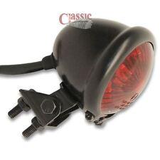 Motorcycle Custom Streefighter LED Bates Rear Stop Tail Light Black Red Lens