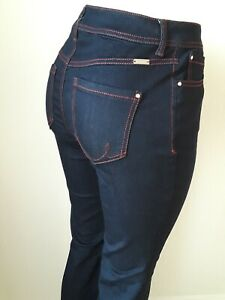 INC-Women-curvy-fit-jeans-Blue-FLARE-Leg-NEW-Cotton-blend-NEW