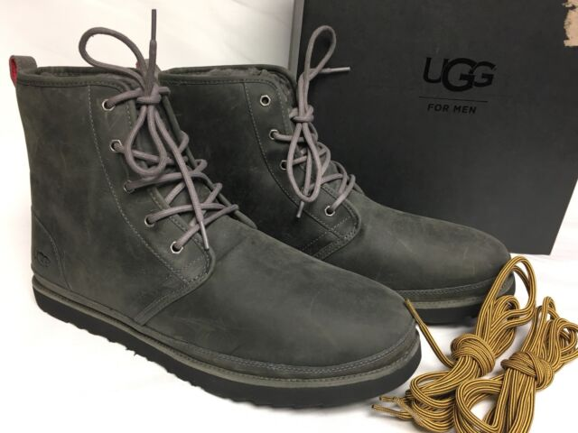 53920881a7d UGG Men's Harkley Waterproof Ankle Boot 6 M Charcoal Full Grain Leather