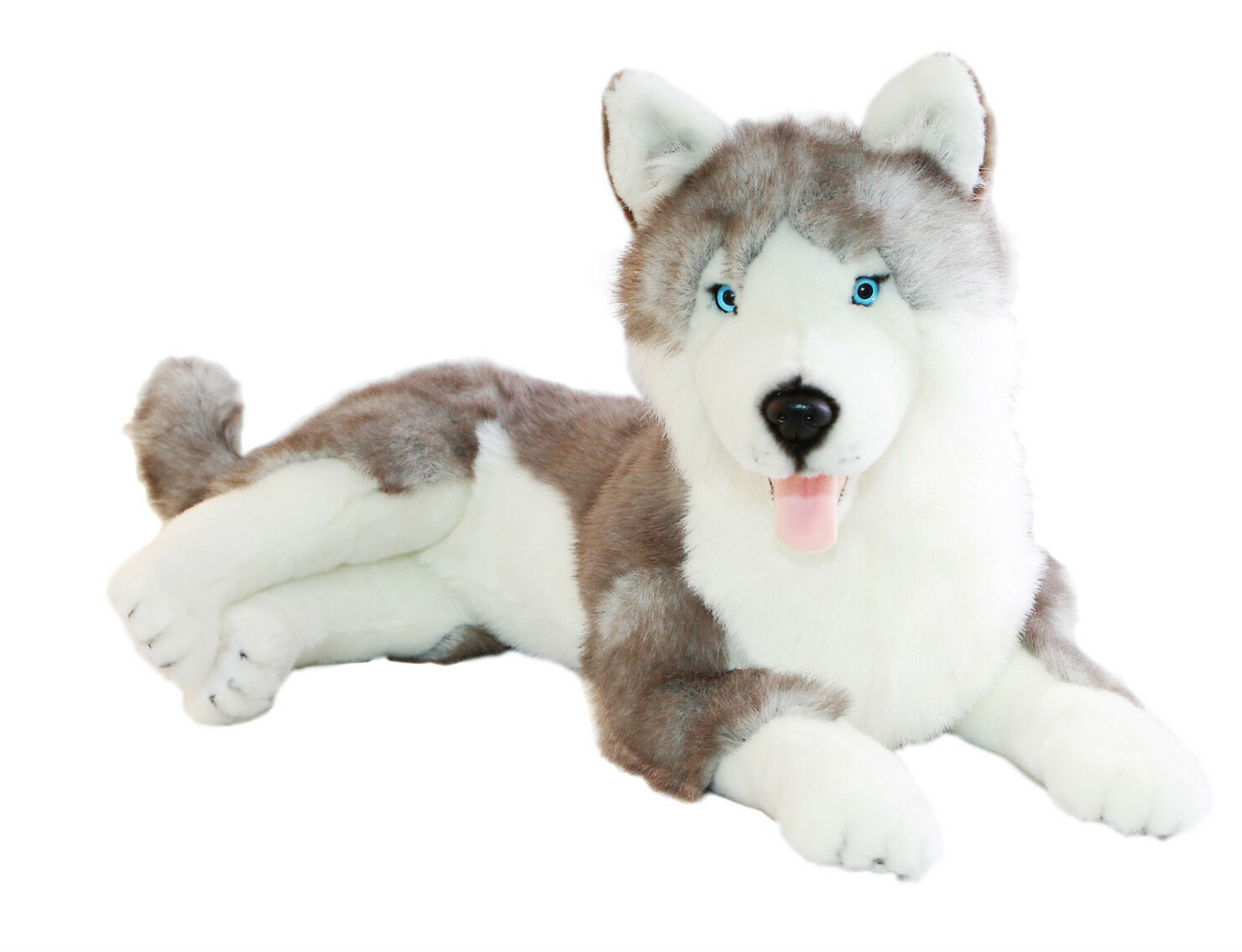 NEW BOCCHETTA - ROCCO LARGE LYING HUSKY SNOW DOG SOFT PLUSH TOY 62cm