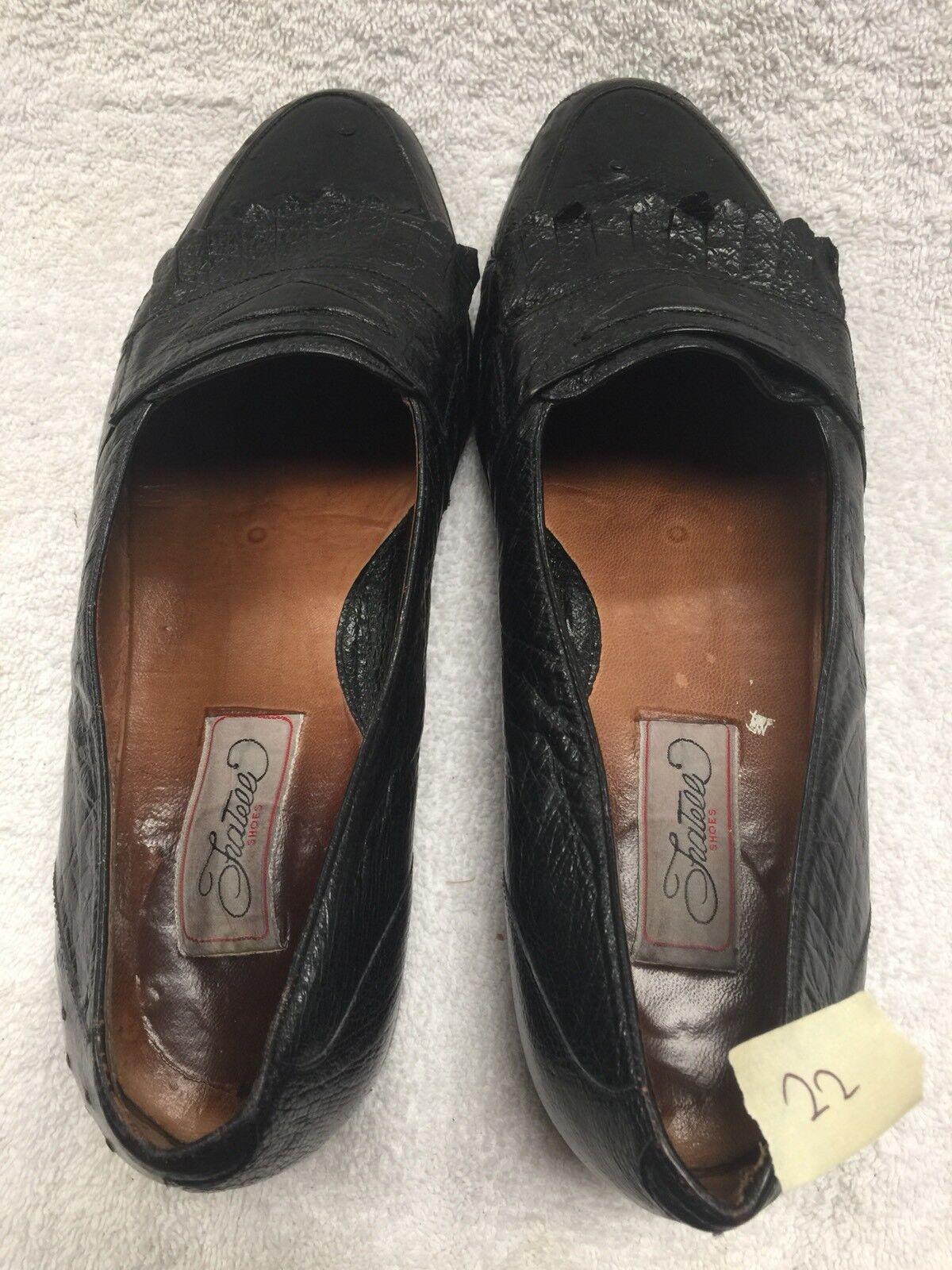 FRATELLI Mocassins homme Taille US 9.5 D Noir Autruche Chaussures  22
