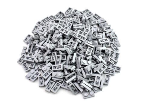 100 pieces TCM Compatible Bricks QTY Light Bluish Gray Plate 1 x 2