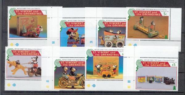 Tematiche Francobolli Vincent Walt Disney Serie Emessa Da Grenadines Of St