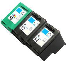 3 Pk Ink Set for HP 92 HP 93 Photosmart C3135 C3140 C3150 C3180 C4180 7850