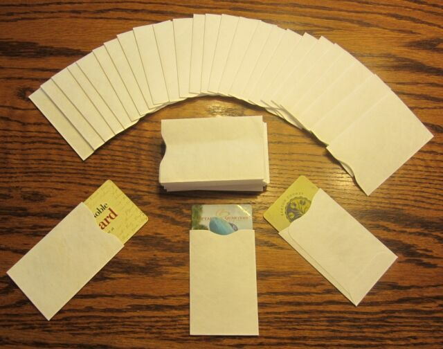 50 Tyvek Credit Debit ATM ID Gift Card Holder Protector Sleeve Envelopes NEW