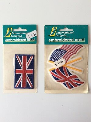 Triumph With Union Jack Black Flag Iron Sew on Embroidered Patch appliqué #162