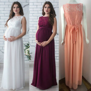 Full-Dress-Lace-Block-Maternity-Balls-Evenings-Cocktails-Wedding-6-8-10-12-14-16
