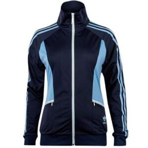 bb966757f210 Adidas Originals Navy Blue Zip Up Womens Polyester Track Top Jacket ...
