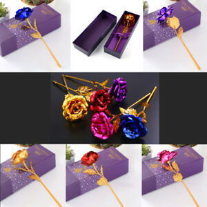 24-K-Gold-Plated-Rose-Flower-Classic-Honorable-Anniversary-Mother-Day-amp-Wife-Gift