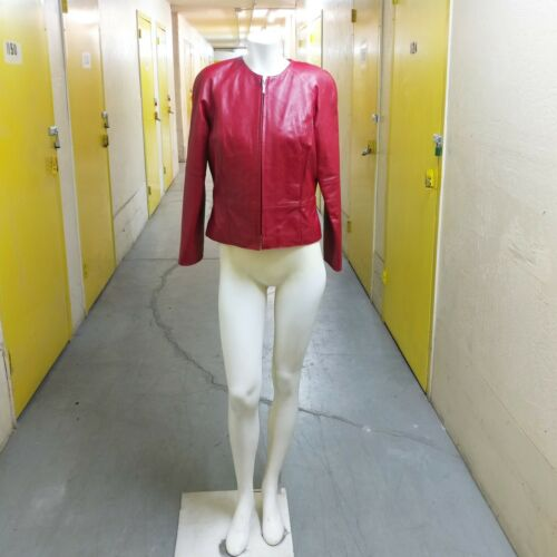 Vintage Willi Smith Lambskin Collarless Jacket SZ