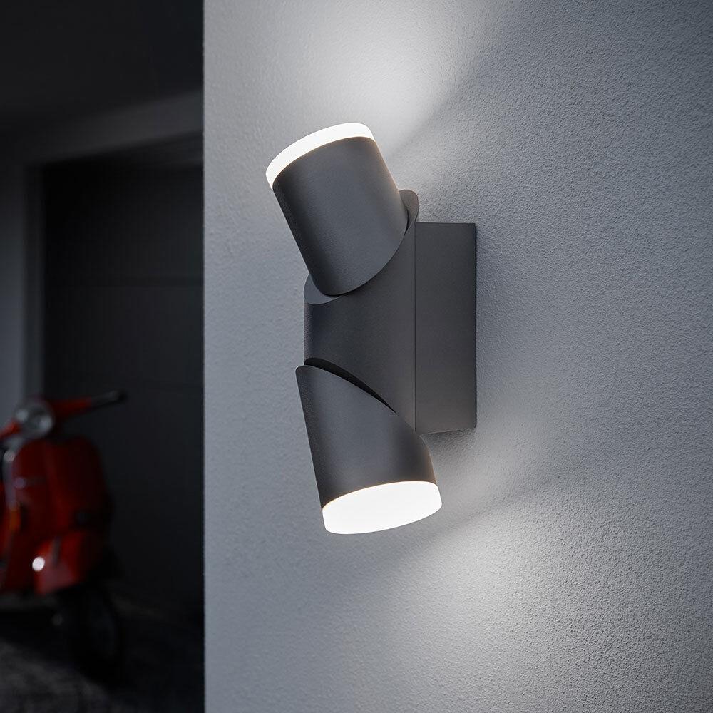 Osram LED Wandleuchte Endura Style UpdownFlex außen dunkelgrau 13W warmweiß IP44