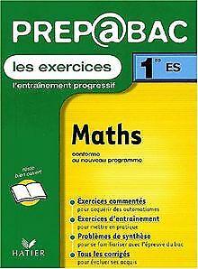 Prépabac, les exercices : Maths, 1ère ES de René Merckhoffer   Livre   état bon   eBay
