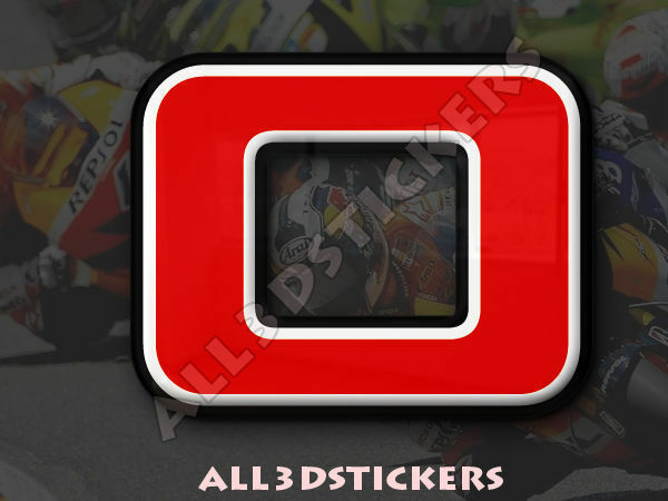 3D Stickers Resin Domed NUMBER 0 ZERO - Color Red - 75 mm(3 inches) Adhesive