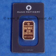 Goldbarren 20g 20 Gramm Gold 99,99 Rand Refinery Loxodonta Elefante elephant