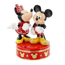 NEW DI352 Mickey &  Minnie - Disney Classic Enamel Trinket Box With Crystals