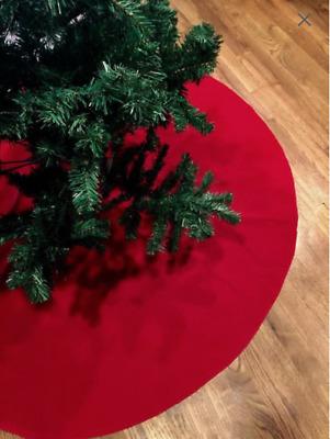 60 Inch Red Or White Velvet Christmas Tree Skirt Ebay