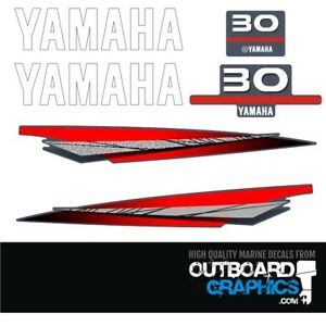Details about Yamaha 30hp 2 stroke outboard engine decals/sticker kit