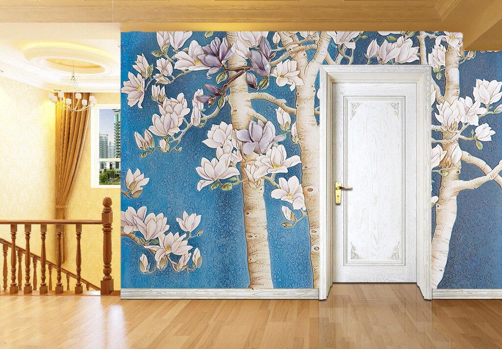 3D Magnolia Flowers 9 Wall Paper Murals Wall Print Wall Wallpaper Mural AU Lemon