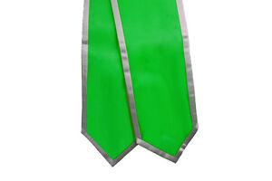 "Graduation Stoles 72"" Green w/ Trim"