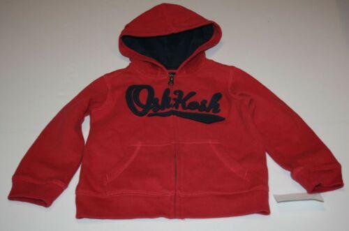 New OshKosh Boys 14 year Navy Logo Red Hoodie Full Zip Up Sweatshirt Top Hoodie