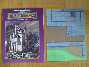 AD&D 2nd Edition Forgotten Realms – Darkhold + Map – English Advanced Dungeons &