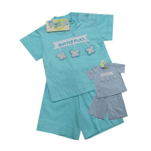 68,74,80 Tricky Tracks Babyanzug 2-teilig T-Shirt Shorts Mädchen Baby Sommer Gr