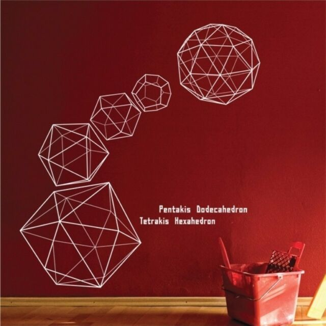 Abstract Geometry Patten Wall Art Sticker Vinyl Wall Decals Mural Home Decor DIY