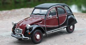 Welly-1-24-Citroen-2CV-6-Charleston-Diecast-Model-Sports-Racing-Car-Red-IN-BOX