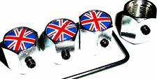 Con cerradura de Union Jack coche dust/valve Caps Lock Bicicleta Robo van bicicleta neumático Mini