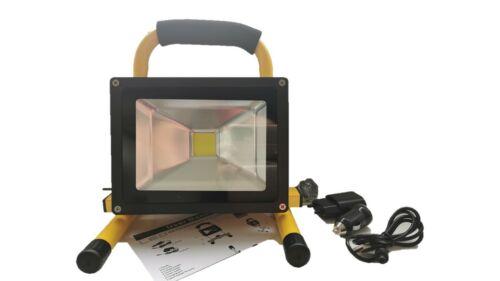 Kaltweiß 20W LED Strahler Akku Fluter Arbeitslampe Handlampe Baustrahler IP65