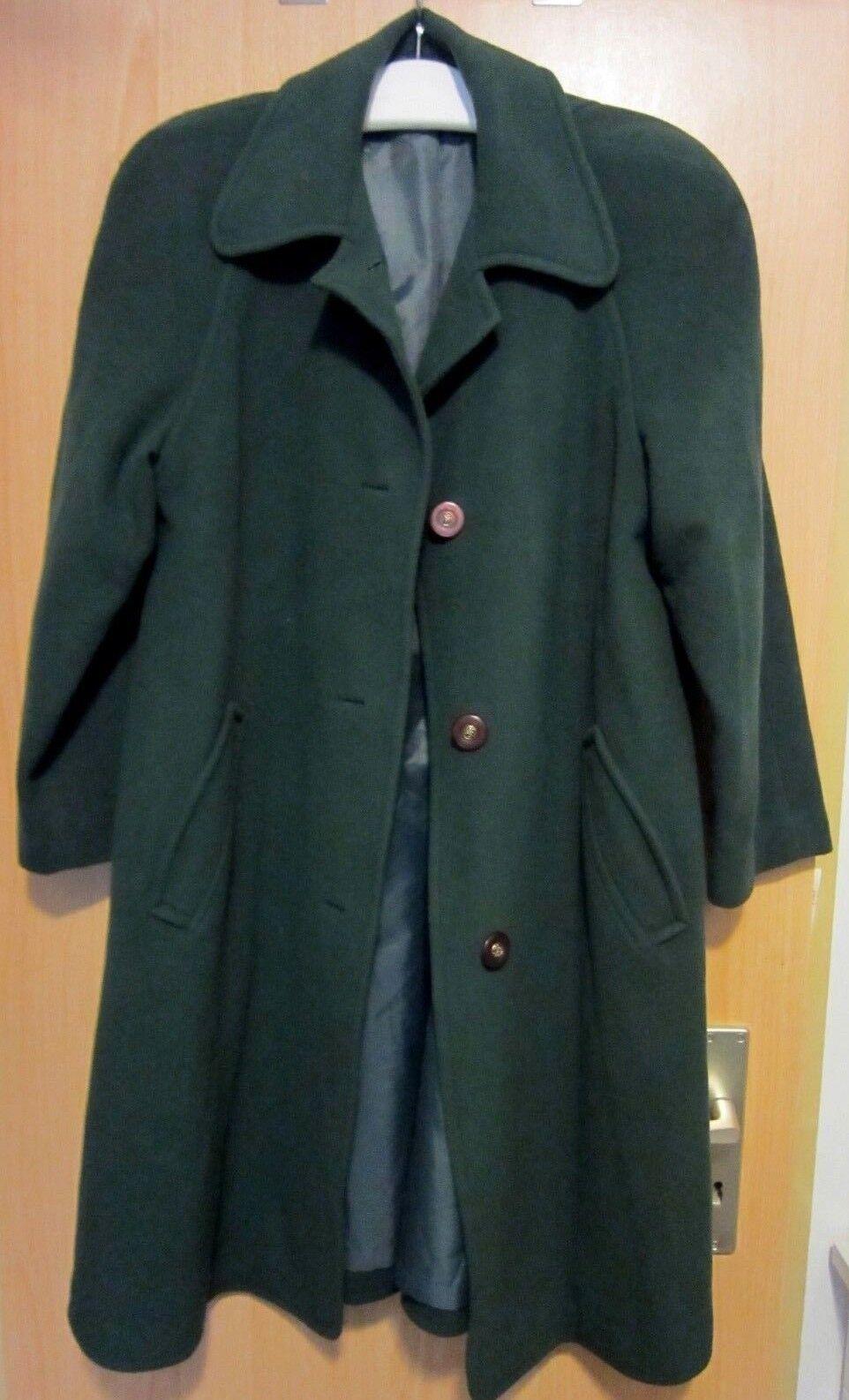 Sehr edler Damenmantel Wintermantel Damen Mantel Reine Schurwolle Größe 40 grün   Neuer Eintrag    Fein Verarbeitet