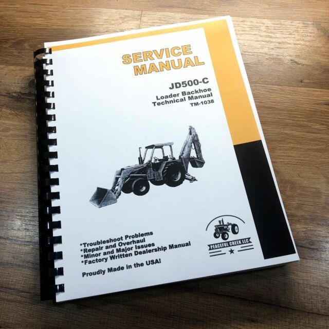 John Deere 2350 2550 Tractor Service Repair Shop Technical Manual Book Tm4403 For Sale Online Ebay