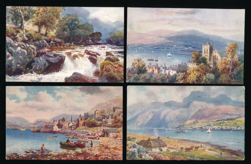 SCOTLAND TUCKS OILETTE 7688 FORT WILLIAM ARTIST WIMBUSH UNUSED 4 CARDS
