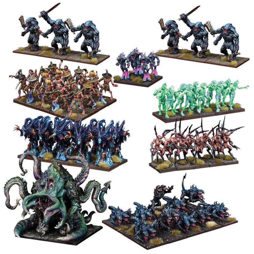Mantic Games Kings of War Entièrement neuf dans sa boîte Nightstalker Mega armée mgkwns 102