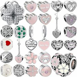 Pop-New-Fashion-Diy-Bead-Silver-Charms-Fit-Genuine-Sterling-925-Bracelets-Chain