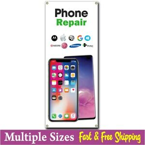 Cell Phone Repair Banner Vertical Sign Computer Tablet Iphone 002 Ebay