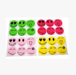 120PCS Mosquito Repellent Insect Bug Repel Stickers Citronella Oil Smile Face