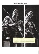 JIMI HENDRIX '2 Jimis+ Gibson Flying Vee' magazine PHOTO/clipping 11x8 inches