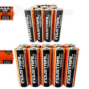 10-AAA-10-AA-Duracell-Industrial-Procell-Alkaline-20-batteries-MIX-LR03-LR6