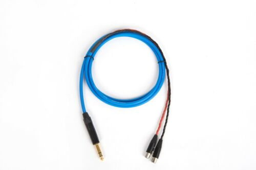 """10 Ft CANARE BLUE 1//4/"""" TRS to TA4F AUDEZE LCD-2 LCD-3 LCD-4 LCD-X CABLE."""