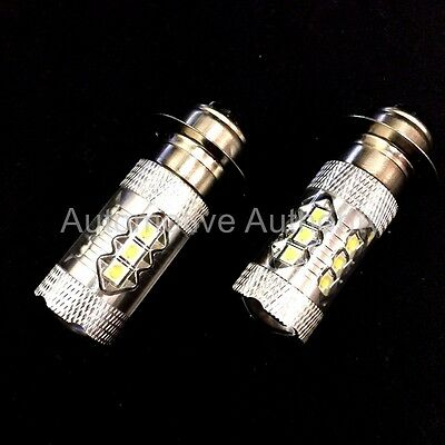 2 x H4 SUPER WHITE CREE LED SMD 30W CANBUS BULBS LIGHT 501 VAUXHALL MOVANO 98