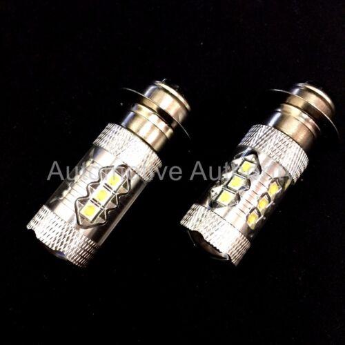 Fits Kawasaki Super White LED Headlights Bulbs 80W Upgrade 2 Pack