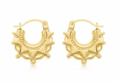 9ct gold earrings 45mm real 9ct gold gypsy style new