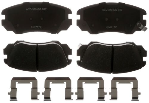 Disc Brake Pad Set-Ceramic Disc Brake Pad Front ACDelco Advantage 14D1421CHF1
