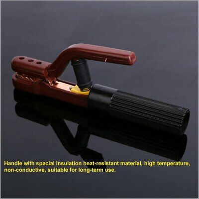 800A Electrode Holder Quick Heated Welder Stick Copper Rod Welding Clamp Tool