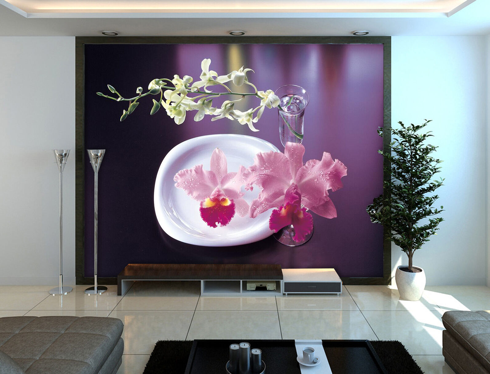 3D Small vase, flowers Wall Paper Wall Print Decal Wall Deco Indoor Wall Murals