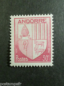ANDORRE-FRANCAIS-1944-timbre-94-ARMOIRIES-neuf-VF-MNH-STAMPS