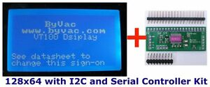 I2C-or-Serial-128x64-LCD-controller-BV4611-with-optional-blue-LCD-display-4611