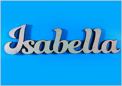 Personalised Custom MDF Wooden Text Name Plaque Sign for Wedding Birthday Party