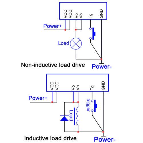 3V-24V 5A flip-flop latch switch module bistable single button 5000mA LED rel P3